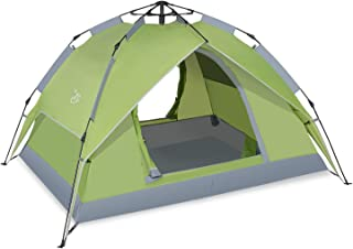 UU CAMP 3-4 Automatic Pop UP Backpacking Tent with Detachable Beach Shelter for Family Camping and Hiking