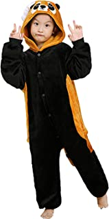 7fc2f5f50af94 Enfant Pyjama Unisexe Onesie Kigurumi Animaux Panda Rouge Cosplay Costume  Combinaison Vetements de Nuit pour Taille