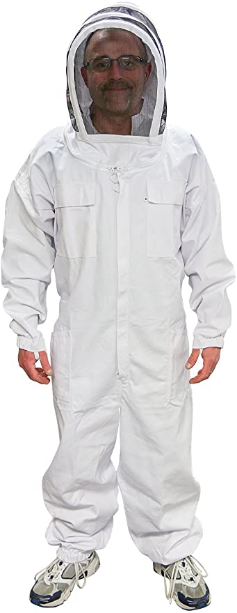 Beekeeping Suits Cotton Siamese Anti-bee Suit M L XL XXL Size for Women Mens BMA
