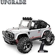 Vatos RC Car Off Road High Speed 4WD 40km/h 1:22 Remote Control Car Monster Truck Buggy Crawler (Silver)