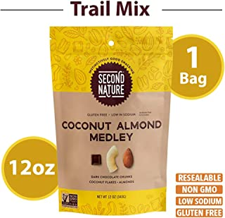 Second Nature Coconut Almond Medley Trail Mix - Healthy Nuts Snack Blend - 12 oz Resealable Pouch
