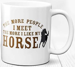 Taza de café para amantes de los caballos Regalo con tema animal 330 ml Taza de cerámica Amo los caballos