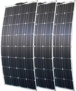 High song Paneles solares 100w 200w 12v Panel Solar Portátil Placa Flexible 16V 800W CÉLULAS Silicio Monocristalino (Color : 3pcs 100W)
