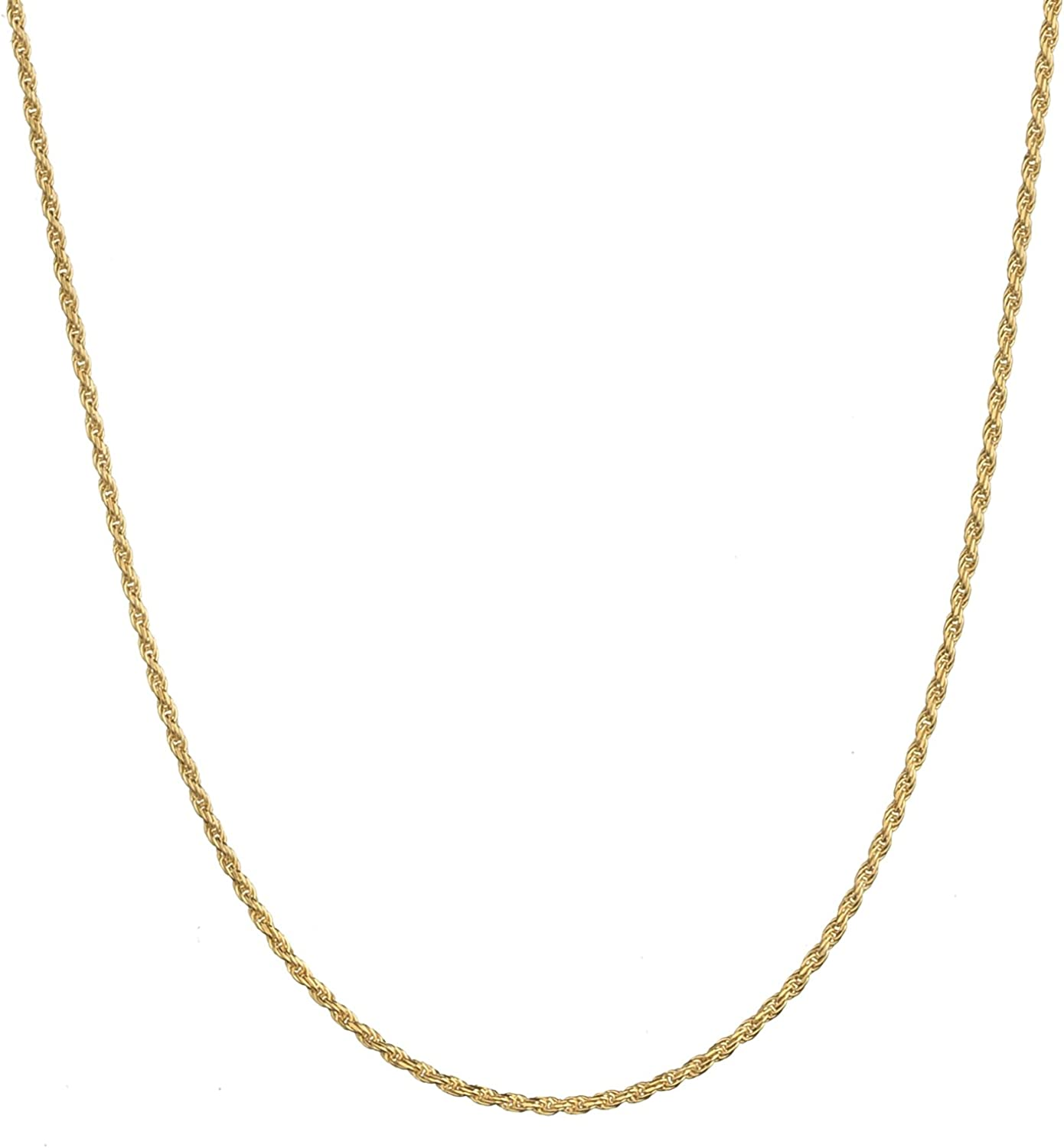 online shop 18K Gold Flashed Excellence Sterling Silver Chain Neckla 1.6mm Italian Rope