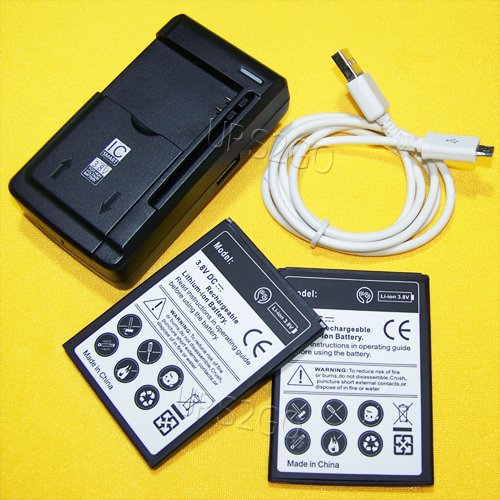 Hi-Capacity Rechargeable 2500mAh 3.8V Li-ion Battery Intelligent USB Travel Charger with USB Cable for Straight Talk/Tracfone/Net10 ZTE Midnight Pro LTE Z828TL Cellphone