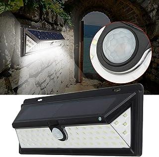 BBZZ Lampes solaires LED à énergie solaire avec détecteur de mouvement PIR - Lampe murale étanche pour jardin, cour