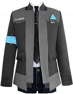 Men's Connor Jacket Cosplay Costume Shirt Coat Tops Uniform Suit with Tie