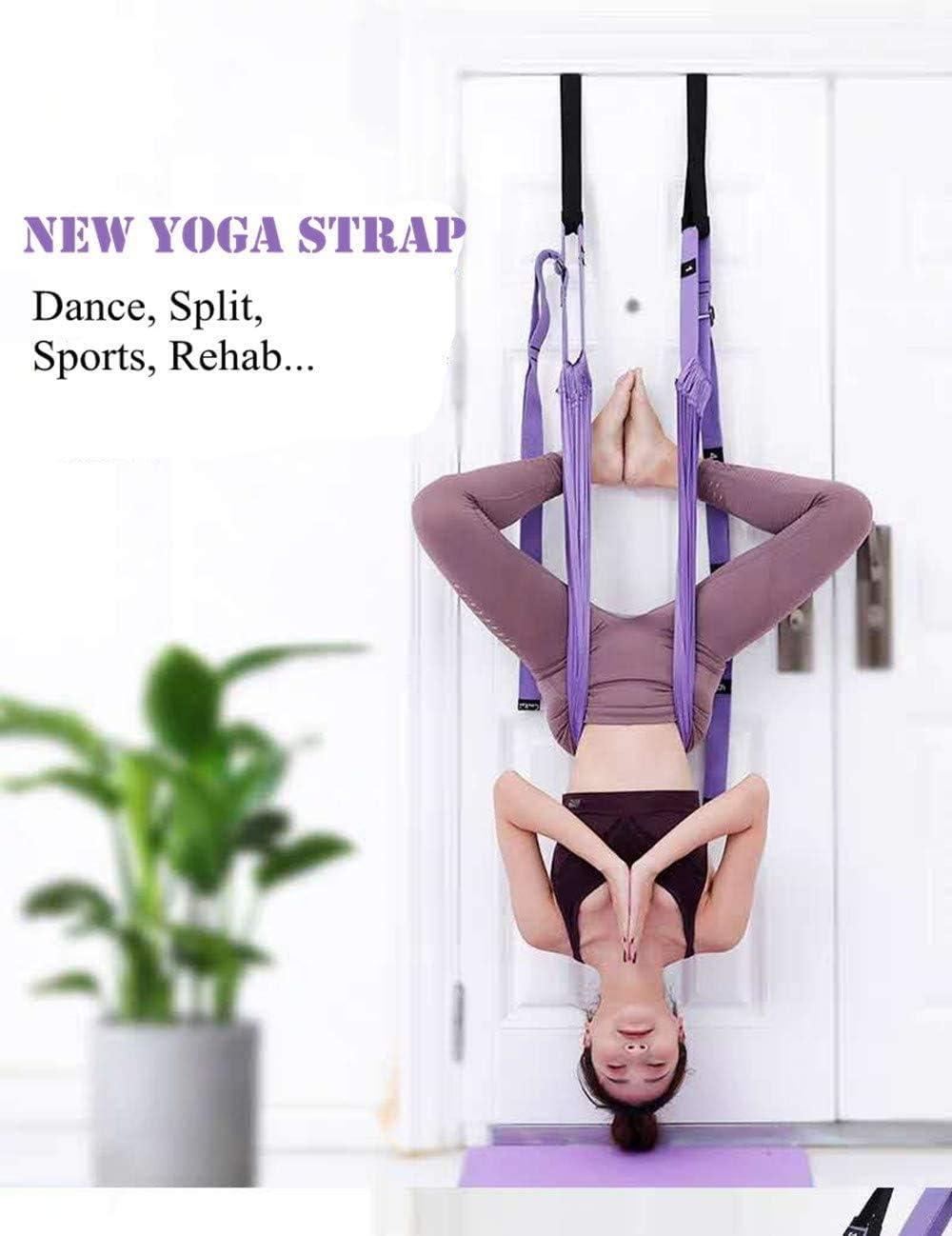Yoga Stretcher Gymnastics Ballet Back Bend Split Inversion Strap for Fitness Dance Leg Stretching Assist Trainer KimDaro Waist Back Leg Stretch Strap//Yoga Fitness Band