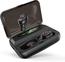 $39 Get Wireless Earbuds Bluetooth 5.0 Earphones with 1500mAh Charging Case LED Battery Display in-Ear Wireless Earphones 100-Hour Playtime Waterproof Noise Canceling Mic Hi-Fi Stereo Sound for Gym