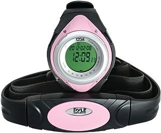 Pyle phrm38pn Monitor de frecuencia cardíaca reloj con mínima, media y velocidad máxima de corazón (rosa)