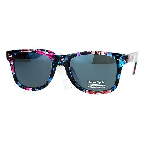 d6d3533d3b69 Floral Flower Print Sunglasses Classic Designer Fashion Square Frame