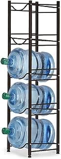Water Bottle Storage Rack 5 Gallon Holder, 5-Tier Stackable Water Cabinet Cooler Shelf Canning Kit, Home Office Organization