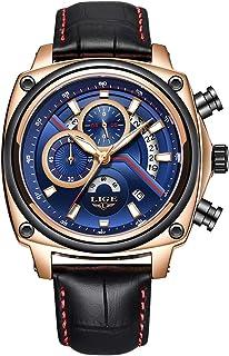 LIGE 9891 Quartz Men Watch Casual Fashion Top Luxury Brand Sport Watch Men Waterproof Leather Wristwatch Relogio Masculino