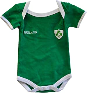 Lansdowne Green Ireland Rugby Vest Designed with A Small Ireland Print and Shamrock Badge