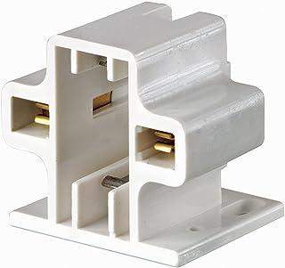 Leviton 26719-200 G23, G23-2 Base, 5W 7W 9W 2-Pin, Compact Fluorescent Lampholder, Horizontal, Screw-Down, Code, White Body