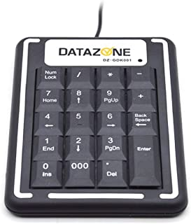 Numeric USB Keypad, Numerical Mini Keyboard , USB Portable Slim Number Pad for Laptop Desktop Computer PC, Mac Full Size 1...