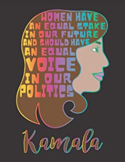 """Women Have An Equal Stake In Our Future And Should Have An Equal Voice In Our Politics - Quote By Kamala Harris: 8.5"""" x 11..."""
