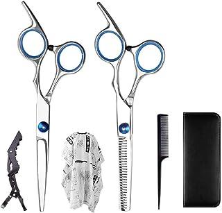 Supvox 2pcs peluquero tijeras peluquero tijeras corte de pelo adelgazamiento tijeras tijeras conjunto de peluquer/ía para sal/ón