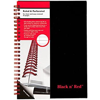 Black N Red, Ruled Notebook, Ref. L67000U Ruled  Perforated, Premium 70 Pgs