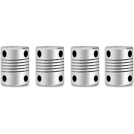 """imprimantes 3D moteurs pas à pas Arbre Moteur couplage aluminium 6.35/"""" à 8 mm pour CNC"""