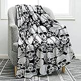 Jekeno Retro Skulls Blanket Soft Ligtweight Durable Cozy Throw Print Blanket for Kids Women Adults Gift Home Decor 50'x60'