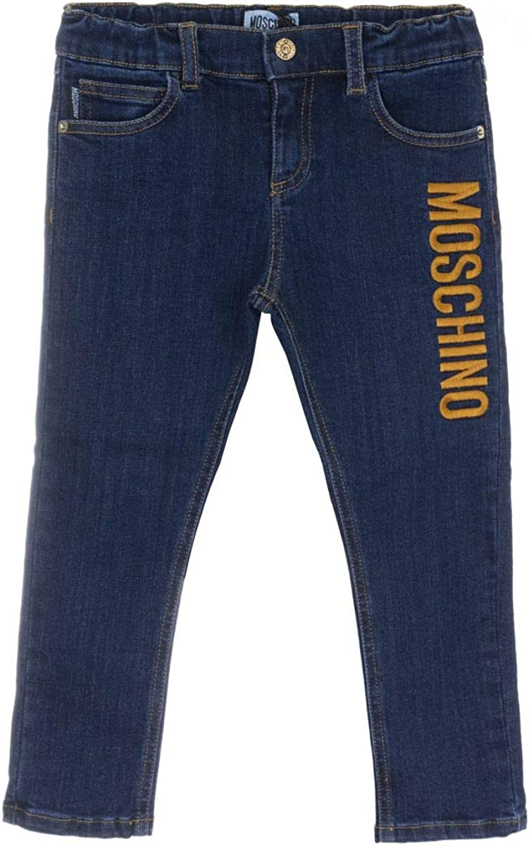 MOSCHINO OFFicial site Baby Girl Jeans Gold Elastic Brand new Waistband