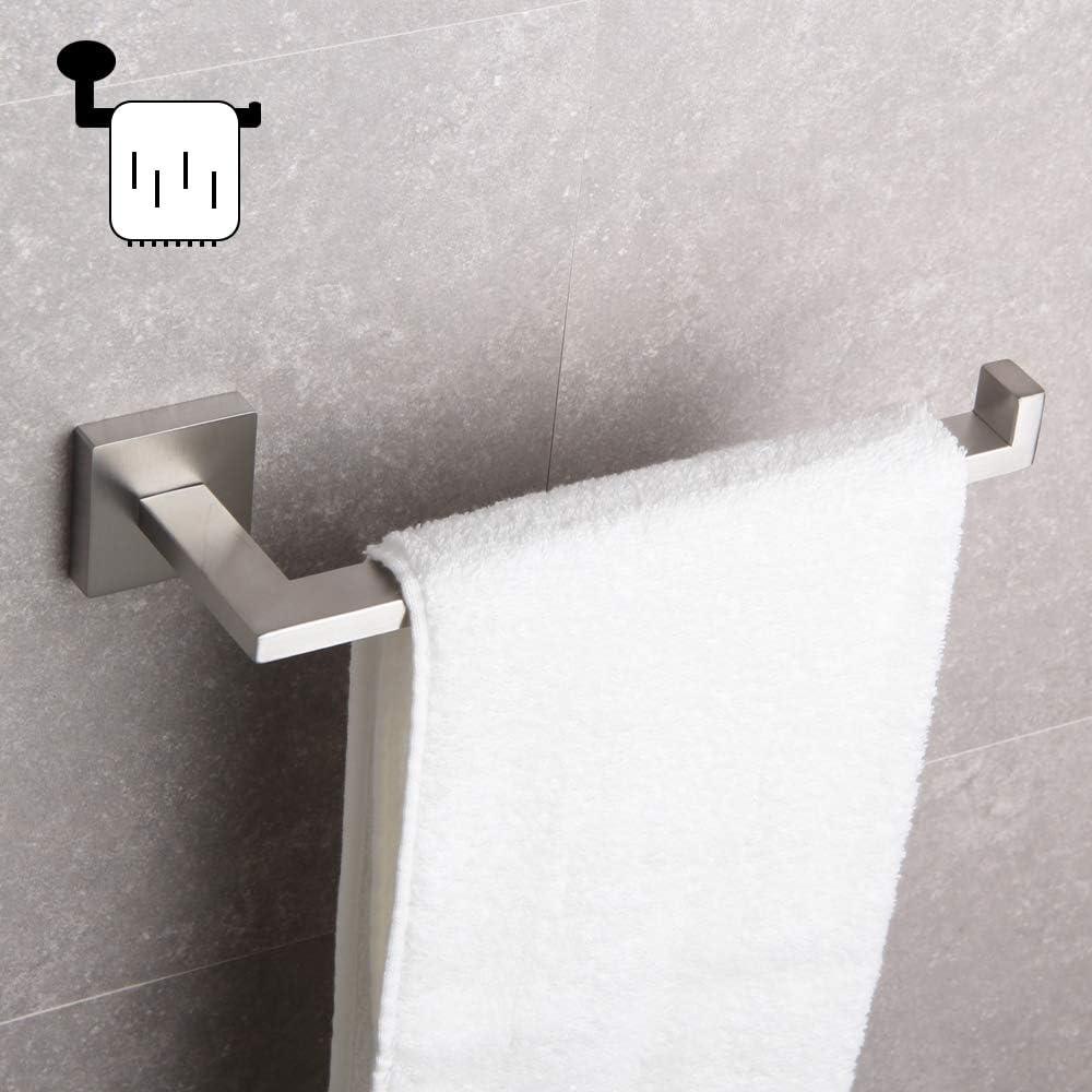 Matte Black IG1806-BK GERZWY Bathroom Modern Hand Towel Ring SUS 304 Stainless Steel Kitchen Towel Hanger