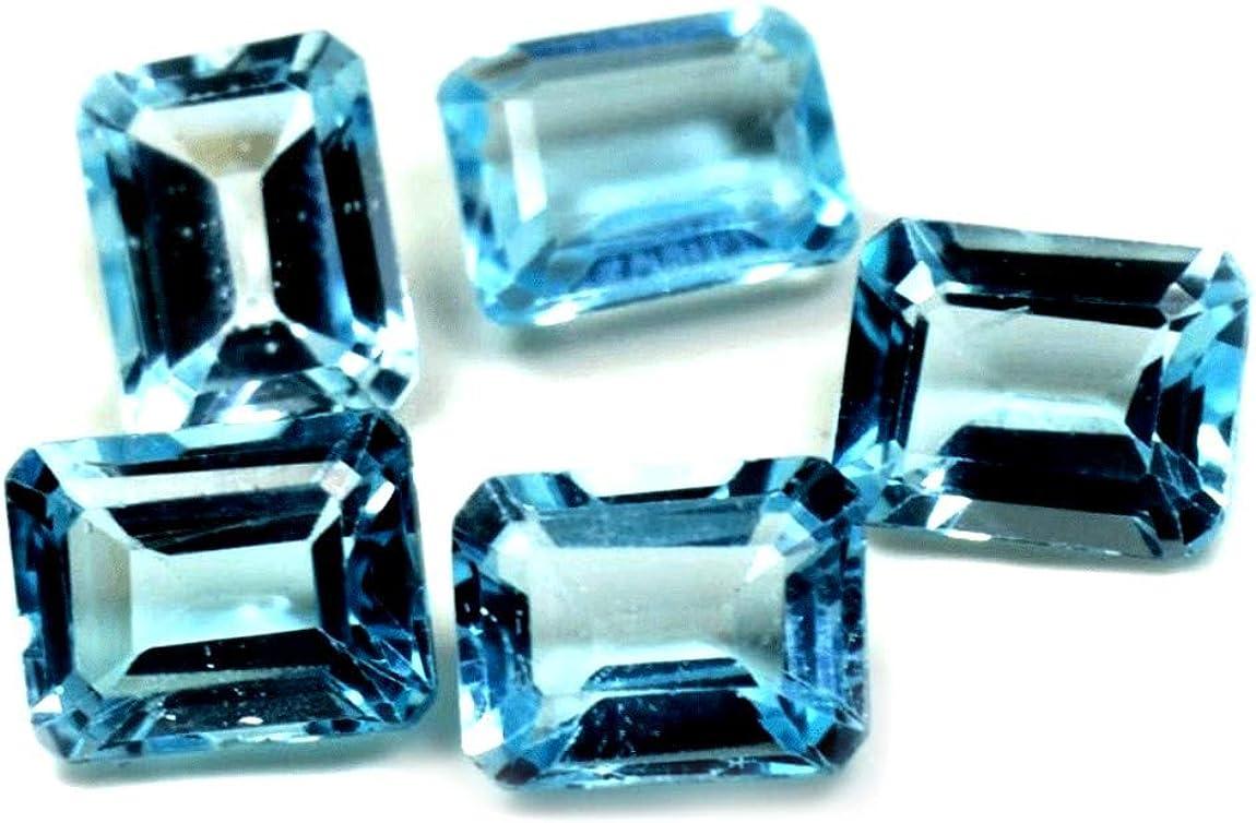 55Carat Brand Natural Blue Topaz Loose 5 Max 78% OFF Gemstone MM 8X6-11X9 Pc Max 74% OFF