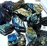 HSIOVE Dazzle Labradorite Original Piedra Cuarzo Cristal espécimen Mineral áspero (Color : Multi Colored, Size : 1pc100g)