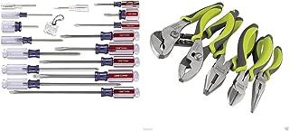Craftsman 9-31794 Slotted Phillips 17 Piece Screwdriver Set and Craftsman 5 Pc.Craftsman Evolv Plier Bundle
