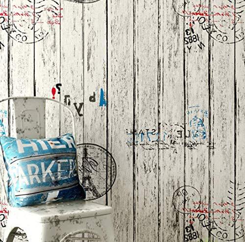 Autoadhesivo retro grano de madera impermeable etiqueta de la pared papel tapiz dormitorio sala de estar pared de fondo 60 CM * 10 M E