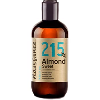Naissance natürliches Mandelöl süß (Nr. 215) 250ml - Vegan, gentechnikfrei - Ideal zur Haar- und Körperpflege, für Aromatherapie und als Basisöl für Massageöle