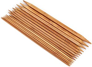 15 tailles x 5 pièces aiguilles à tricoter en bambou carbonisées L 15cm//20cm