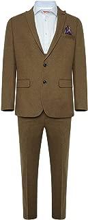 HARRY BROWN Suit Wool Slim Fit 3 Piece