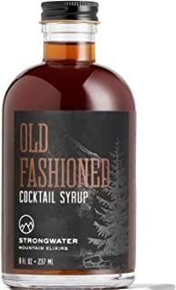 Strongwater Old Fashioned Syrup (Makes 32 Cocktails) - Non-Alcoholic Craft Cocktail Mixer - Handcrafted Old Fashioned Mix ...