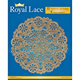Royal Consumer Lace Round Foil Doilies, Gold, 8-Inch, Pack of 12 (B26510)