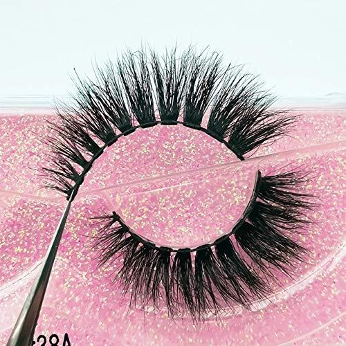 YTG 1 Paar 3D Mink Wimpern Fluffy Dramatische Wimpern Makeup Wispy Mink Lashes natürliche Lange falsche Wimpern Starke gefälschte Lashes (Color : P38A, Length : Mink Lashes)