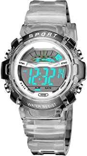 Kids Watch, Fashionable Lightweight Girls Boys Outdoor Shockproof Digital Sports Kids Wrist Watch with Timer LED Light Calendar Children Watch for Birthday Christmas Gifts