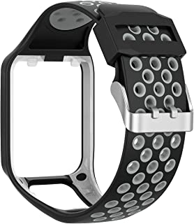 RuenTech Compatible with Tomtom Spark 3 / Runner 2 3 / Golfer 2 Watch Band, Silicone Straps Wristband Sport Band Compatibl...