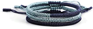 HUNO Handmade Rope Lucky Tibetan Knots Bracelets Set Adjustable Braided Friendship Bracelets for Men Women Jewelry