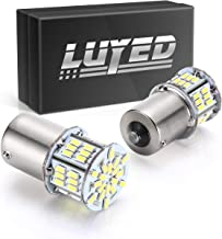 LUYED 2 x 650 Lumens 12v-24v 1156 1141 1003 3014 54-EX Chipsets Led Bulb Used For Back Up Reverse Lights,Brake Lights,Tail Lights,Rv light,Xenon White