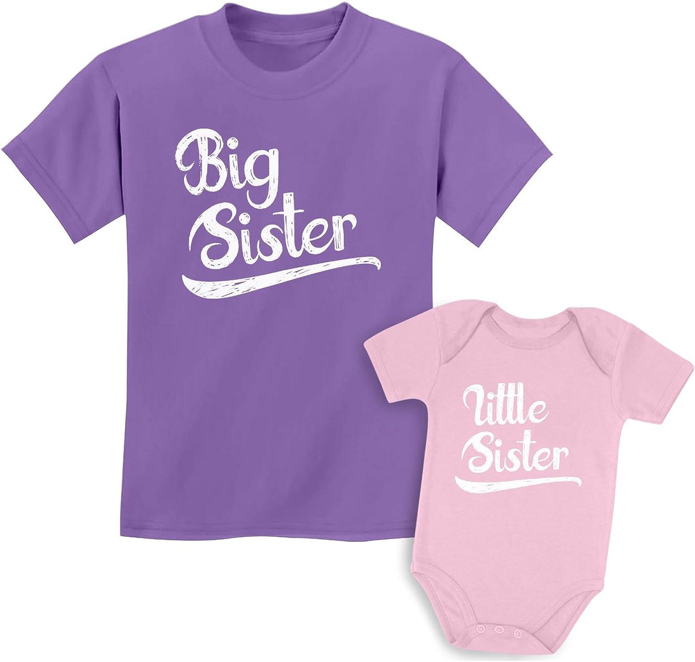Big Sister Little Sister Matching Outfits Shirt Gifts Girls Newborn Baby Set