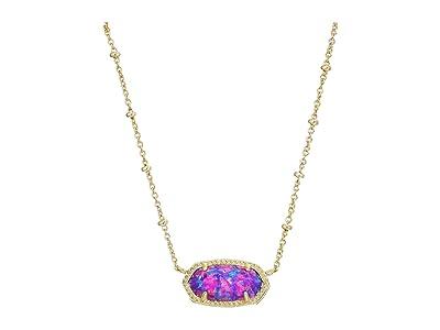 Kendra Scott Elisa Satellite Short Necklace (Gold/Violet Opal) Necklace