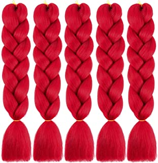 Best red synthetic braiding hair Reviews