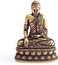ZGPTX Retro Brass Buddha Sakyamuni Statue Mini Portable Pocket Sitting Sculpture Home Decor Office Desk Decorations Ornaments