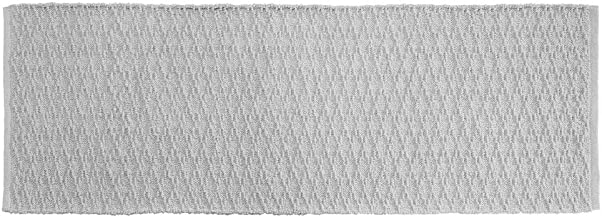 "mDesign Bathroom Cotton Rectangular Rug, Long Runner, 60"" x 21"", Cotton, Gray, Pack of 1"