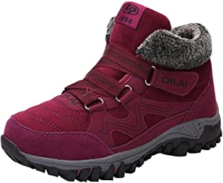 Fashion Womens Flock Shoes Casual Sports Shoes Winter Warm Within Velvet Shoes (Color : Purple, Size : 6 UK)