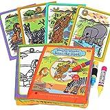 BBLIKE magisch Wasser Zeichnen Malbuch Matte, Malbücher kritzeln mit 2 Zauberstift Wiederverwendbare Malerei Brett Kreative Spielzeug Geburtstagsgeschenke 3+ Jahre alte Kinder (D) -
