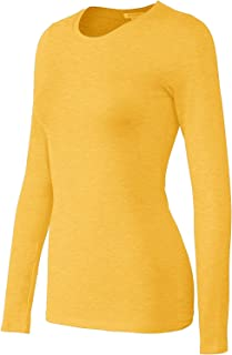 Bozzolo Women's Basic Round Neck Warm Soft Stretchy Long Sleeves T Shirt