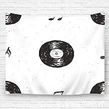 YILINGER Wall Art Tapestry Vinyl Record Vintage Label Sketch Wall Hanging for Bedroom Living Room Dorm 59.1